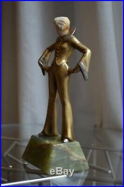 Statue chryselephantine art deco Adoph Josef Lorenzl