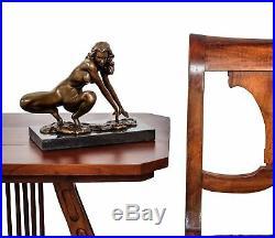 Statue érotique l'art femme de bronze sculpture figurine 23cm