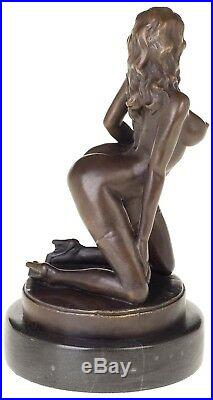Statue érotisme art de bronze sculpture figurine 32cm