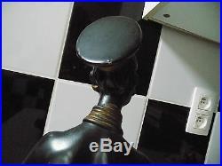 Statue femme africaine signée S. Melani art déco
