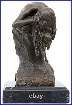 Statue femme érotisme art de bronze sculpture figurine 17cm