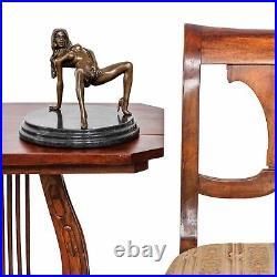 Statue femme érotisme art de bronze sculpture figurine 18cm
