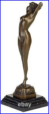Statue femme érotisme art de bronze sculpture figurine 42cm