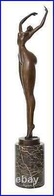 Statue femme érotisme art de bronze sculpture figurine 48cm