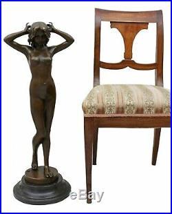 Statue femme érotisme art de bronze sculpture figurine 78cm
