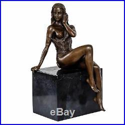 Statue femme érotisme arte de bronze sculpture figurine 25cm