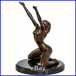 Statue femme l'érotisme l'art de bronze sculpture figurine 25cm