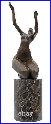 Statue l'érotisme l'art de bronze sculpture figurine 32cm
