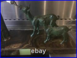 Statue sculpture art déco CHIPARUS femme aux chèvres