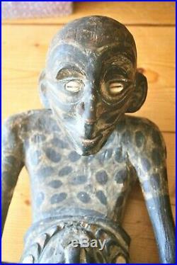 Statue-sculpture-papousie-sepik-nouvelle Guinee-art Tribal-art Premier