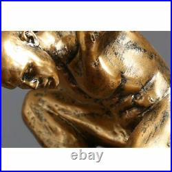 Statue statuette Antique mythologie titan atlas rodin hauteur 33 cm poids1.6kg