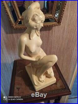 Statuette Style Art Déco Signée Pacini