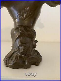 Statuette buste art nouveau signée Anton Nelson