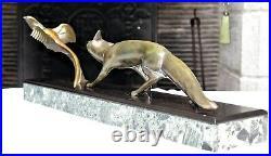 Superbe et rare statue Art Déco Michel DECOUX sculpture french marble