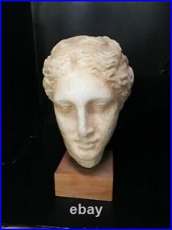 Tête Dieu Grec Art Grec Sculpture Dieu Plâtre Statue Mythologie
