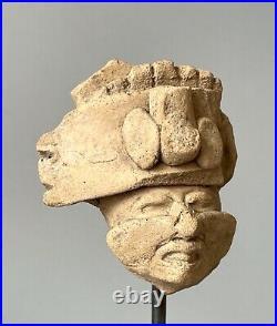 Tête de prêtre Veracruz Mexique 400 à 700 après Jc art précolombien precolumbian