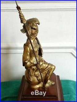 Trés belle statue Athena Bronze doré. Art du début XX°