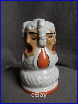 Veilleuse brûle parfum art deco BEVER ROBJ sculpture en porcelaine statue lampe